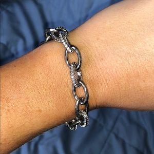 EUC Stella & Dot Silver Christina Link Bracelet
